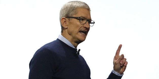 SAN JOSE, CA - JUNE 05: Apple CEO Tim Cook delivers the opening keynote address the 2017 Apple Worldwide...