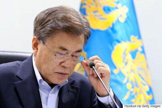 북한이 ICBM급 미사일을 동해상으로