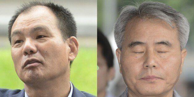 19대 대선 당시 국민의당 공명선거추진단 실무를 맡았던 김성호 전 수석부단장(왼쪽)과 김인원 전 부단장.©