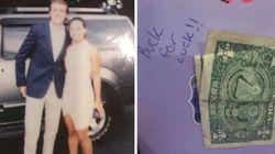 남의 결혼파티를 실컷 즐긴 사람들이 신랑·신부에게 $1를 축하선물로