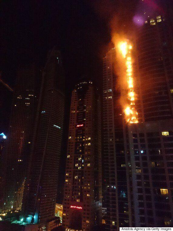 두바이 86층짜리 토치타워에서 대형 화재가