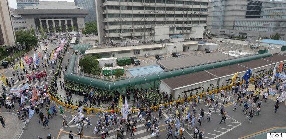 법원이 시민단체들의 '주한미국·일본 대사관 포위 시위' 계획을