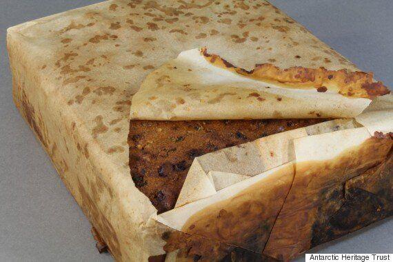 만든 지 100년이 넘은 케이크가 남극에서