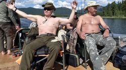 휴가를 즐기는 푸틴을 두고 벌어진 '포토샵