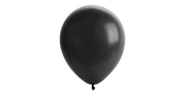 black balloon isolated on white