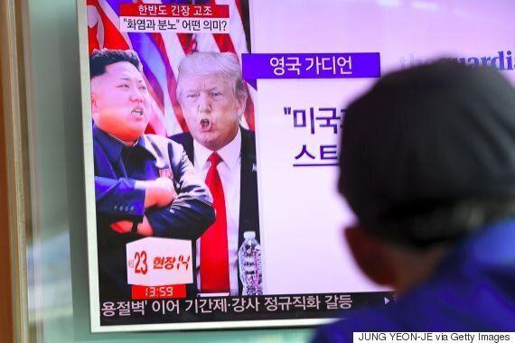 장관들이 북한과의 긴장을 수습하는 와중에 트럼프가 또 북한을