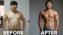 이 남성이 22kg을 감량한