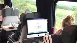 이 기차 속 사진 때문에 인터넷이