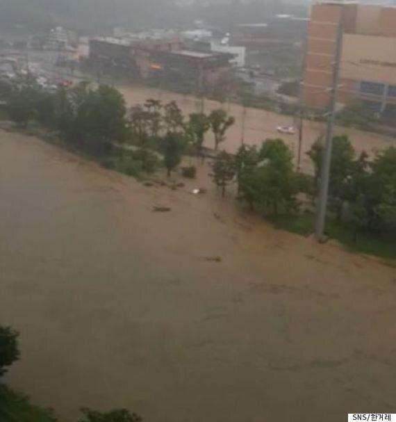 청주 시간당 91.8㎜ '물폭탄' 산사태·홍수