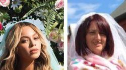 비욘세 쌍둥이 사진을 패러디한 아일랜드의 한 쌍둥이