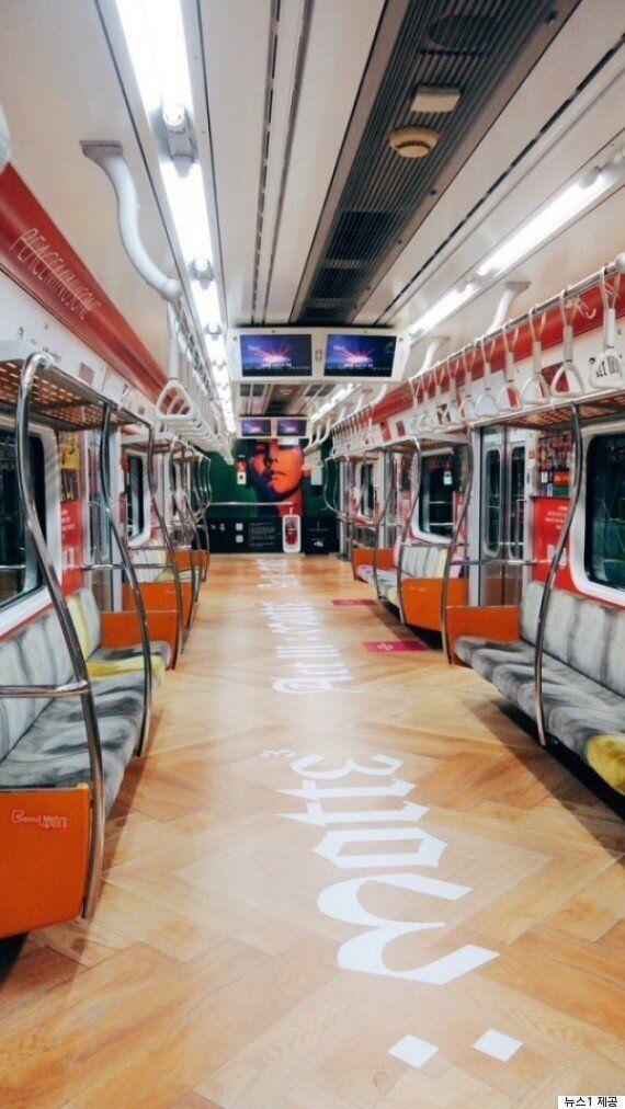 지금 서울 지하철에서는 지드래곤 열차를 탈 수