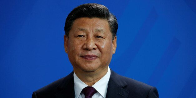 Chinese President Xi Jinping attends a news conference at the Chancellery in Berlin, Germany, July 5,...