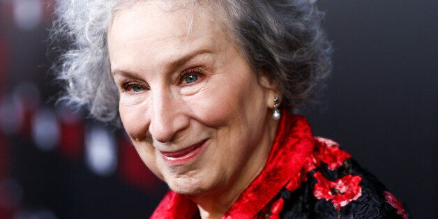 HOLLYWOOD, CA - APRIL 25: Author Margaret Atwood attends the premiere of Hulu's 'The Handmaid's Tale'...