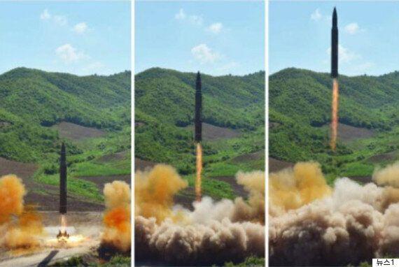 김정은이 ICBM 발사 직후