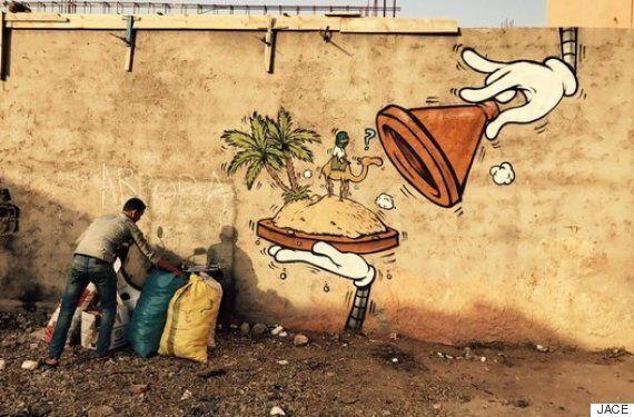 모로코의 길거리가 유쾌한 벽화로