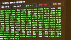 정성호 의원이 민주당 불참의원들에게 분노하며 공개한 현황판