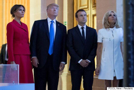 도널드 트럼프가 프랑스 영부인에게