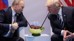 트럼프와 푸틴의 대화 이후 불붙은 '포토샵