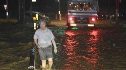 일본 남부에 엄청난 폭우가 쏟아졌다