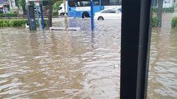 인천에서 폭우로 90대 노인이