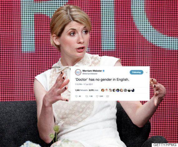 메리엄-웹스터가 성차별적인 '닥터 후' 팬들에게 일침을