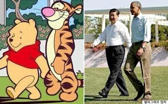 중국에서 곰돌이 푸가 '불법 컨텐츠'가 된
