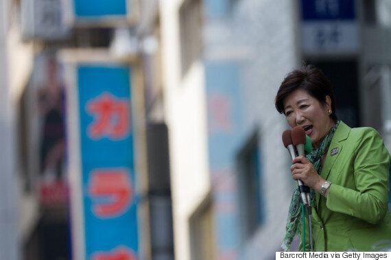 아베 신조가 도쿄도의회 선거에서 고이케 유리코에게 질