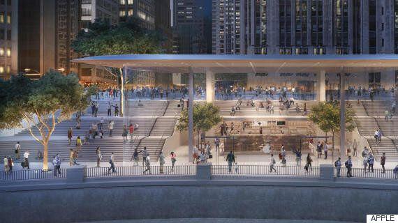 미국에 건설 중인 새로운 애플스토어의 지붕은
