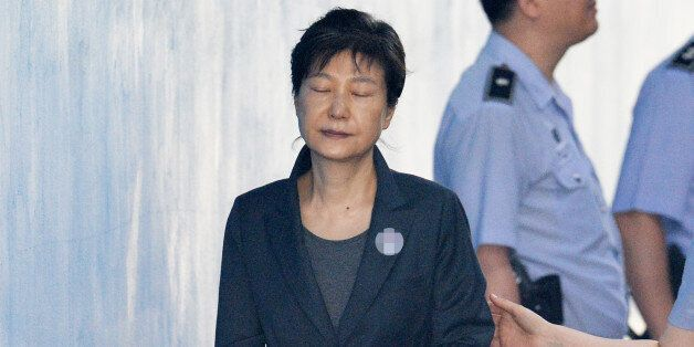 박근혜 지지자들이 오늘 박근혜 재판 법정에서 난동을