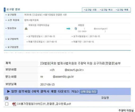 주광덕, '안경환 판결문' 유출 논란에