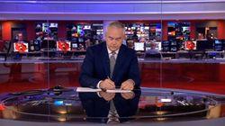 BBC 뉴스 중 방송사고가 나자 앵커는 4분 동안 아무 말도 하지