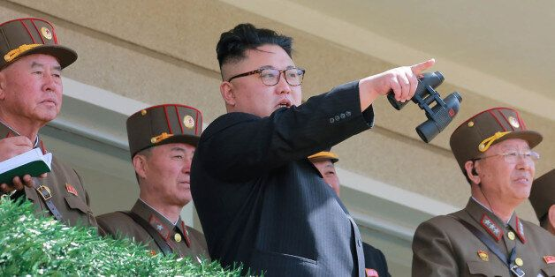 TOPSHOT - This undated picture released from North Korea's official Korean Central News Agency (KCNA)...