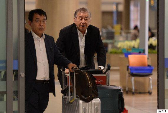 귀국한 문정인 특보가 인천공항에서 밝힌 입장: '학자로서 얘기한 것