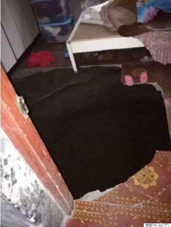 잠을 자던 방에 싱크홀이 생겨 1명이