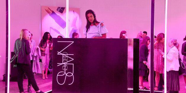 LONDON, ENGLAND - JUNE 29: Maya Jama DJs at cosmetics brand NARs summer party alongside VIP friends and...
