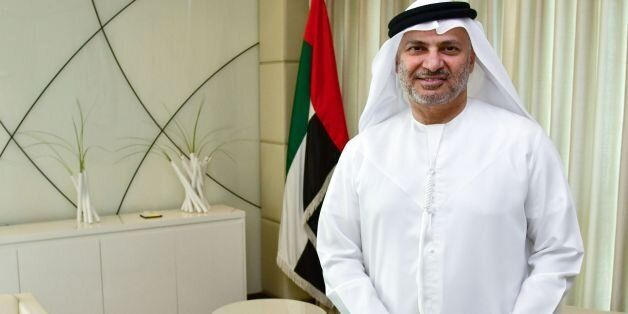 UAE state minister for foreign affairs, Anwar Gargash, poses for a picture during an interview with AFP...