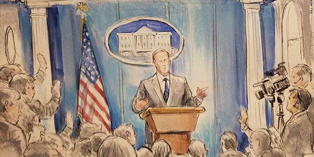 백악관이 언론브리핑 촬영을 금지하자 CNN이 '스케치 화가'를