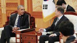 오바마 전 미국 대통령이 청와대를 찾아 문대통령과 나눈