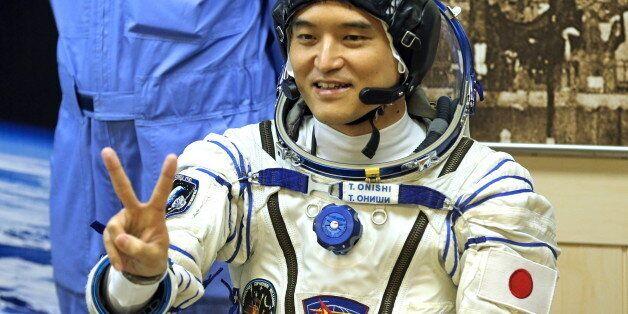 KAZAKHSTAN - JULY 7, 2016: Japanese austronaut Takuya Onishi (JAXA), a member of the main crew of ISS...