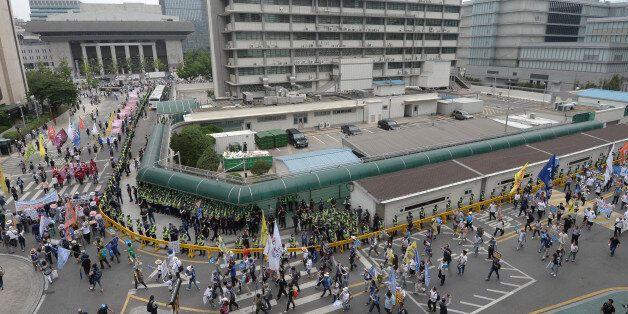 美대사관이 '사드 반대 인간띠 시위' 공식