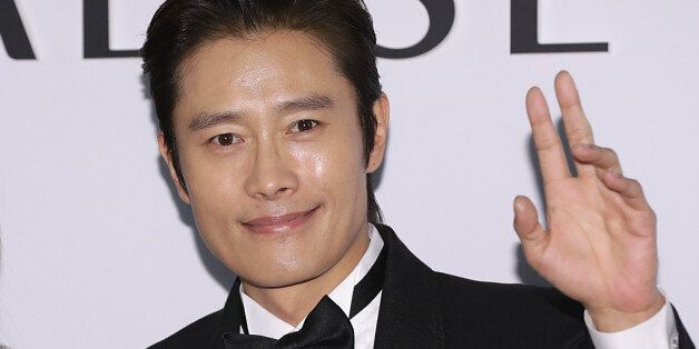 INCHEON, SOUTH KOREA - APRIL 20: Actors Lee Min-Jung and Lee Byung-Hun attend the 'PARADISE CITY' Grand...