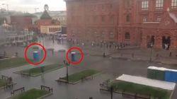 모스크바서 간이 화장실이 시민들을