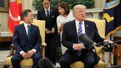 문재인-트럼프 만남 도중 아찔한 일이