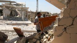 美동맹군 시리아 공습 민간인 사망자가