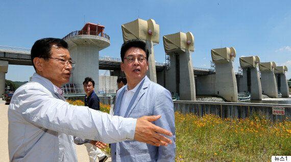 자유한국당이 가뭄 현장을 찾아 문재인 대통령의 '4대강 보 개방'을