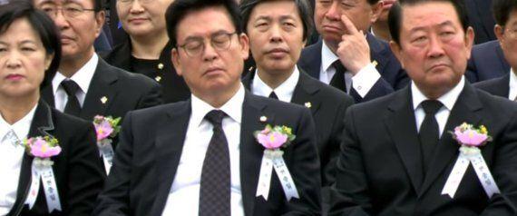 또 한국당 의원이 조는 모습이