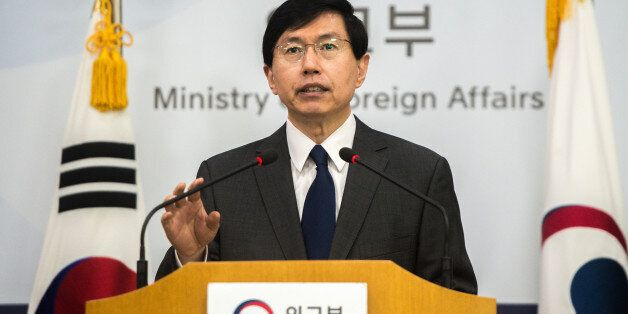 조준혁 외교부 대변인이 북한의 탄도미사일 발사에 대한 정부성명을 발표하고 있다. ©