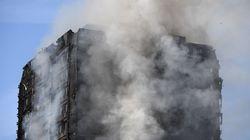 화재 난 런던 아파트 주민들이 전달받은