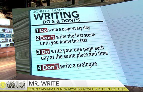 존 그리샴의 글쓰기