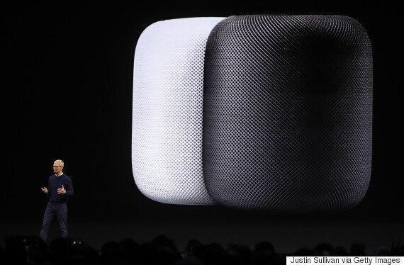 애플의 인공지능 스피커 '홈팟'이